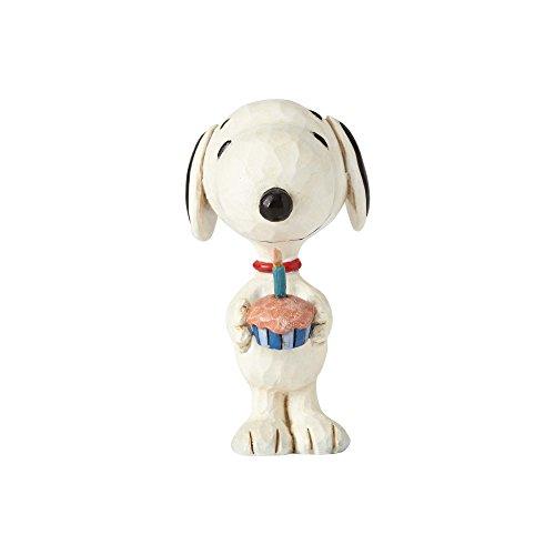 Enesco Peanuts by Jim Shore Snoopy Birthday Mini Figurine, 3 Inches, Multicolor -