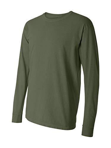 (Comfort Colors Ringspun Garment-Dyed Long-Sleeve T-Shirt (C6014)- HEMP, L)