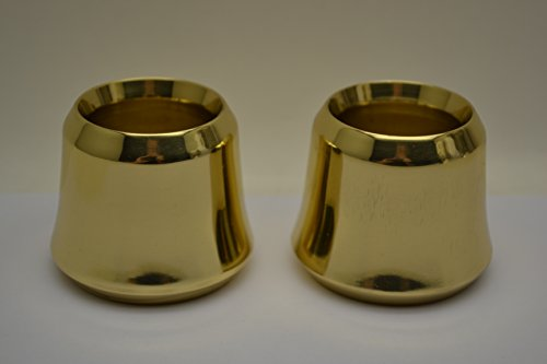 Brass 2 Candle - Classical Church Goods A Pair of Solid Brass Candle Followers 1 1/2 size, Brand New Burners (set of 2)