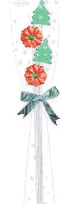 5CT - 4 Christmas Mix Lollipop Mini Bouquet