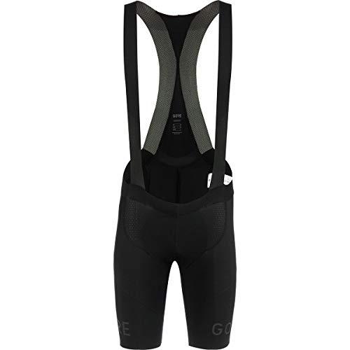 GORE WEAR C7 Men's Racing Bib Shorts with Seat Insert, L, Black