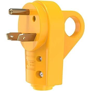 30 Amp Rv Plug >> Amazon Com Camco Heavy Duty Rv 30 Amp Powergrip Male Replacement