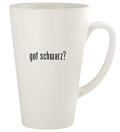 got schwarz? - 17oz Ceramic Latte Coffee Mug Cup, White (Damen Alles In Einem Badeanzug)