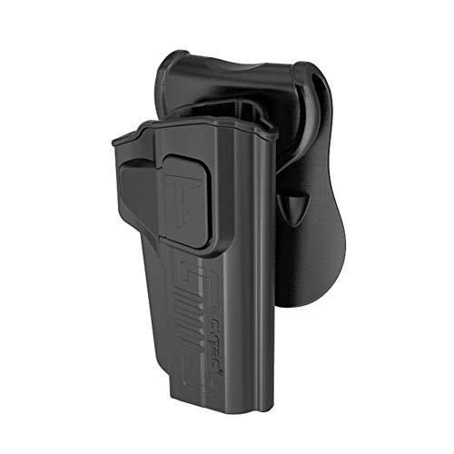 Colt 1911 5 Holster OWB, Paddle Holster fit 1911 Colt 45, Girsan 1911 MC, Variants 1911, Browning MK3, 360 Degree Adjustable Tactical Polymer Pistol Holsters, Right-Handed