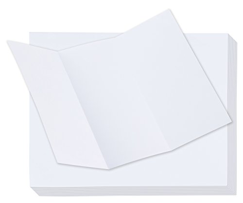 Tri-Fold Brochure Paper - 100-Pack Trifold Pamphlet Flyer Paper for Inkjet and Laser Printers, Brochure Printer Paper, 11 x 8.5 Inches