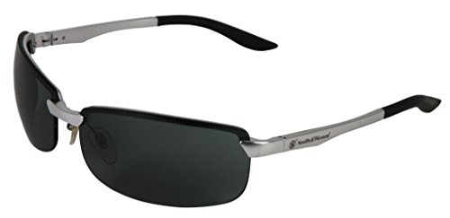 Smith & Wesson 38481 Airweight Safety Glasses, Smoke Lenses Anti-Fog with Aluminum Frame