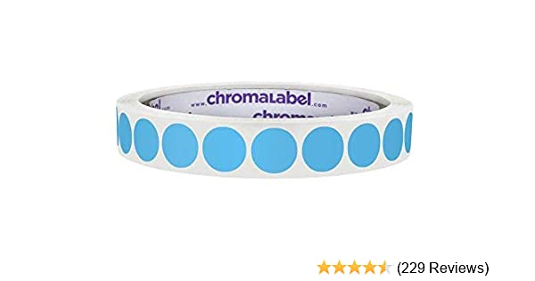 Amazon Com Chromalabel 1 2 Inch Round Permanent Color Code Dot Stickers 1000 Labels Per Roll Light Blue Office Products
