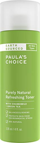 - Paula's Choice EARTH SOURCED Natural Refreshing Toner | Almond Oil, Chamomile & Green Tea | 98% Natural & Fragrance Free | 4 Ounce