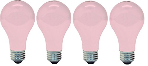 (Ge Lighting 97483 Ge Light Bulb, 60w, Soft Pink (4 Bulbs))
