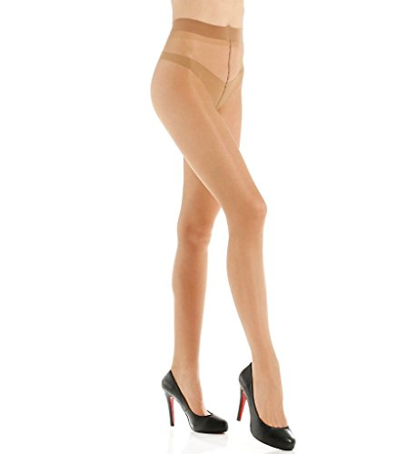 e82aabe8652 Philippe Matignon Jade Sheer 20 Denier Glossy Tights (M109259) at Amazon  Women s Clothing store