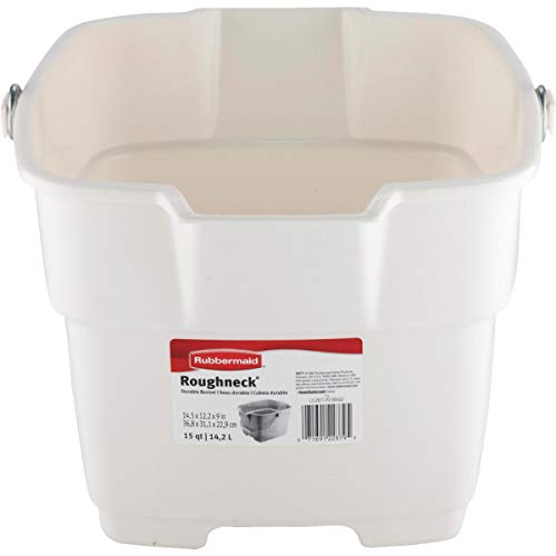 Rubbermaid Bisque Bucket, 15-Quart