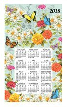 2019 Butterfly Garden Sandy Clough Linen Calendar Towel (F3339)