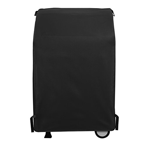 SunPatio 2 Burner Grill Cover 32 inch, Outdoor Heavy Duty Waterproof Small Space BBQ Gas Grill Cover, UV and Fade Resistant, All Weather Protection for Weber Char-Broil Nexgrill Grills and More, Black
