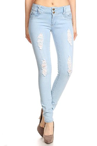 Womens Super Stretch Ripped Distressed Budd Lift Skinny Jeans 09-2 LTB 3