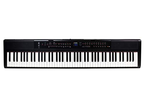 Artesia PE-88 88-Key, Digital Piano (Black) 88-Key with 130+ Dynamic Voices and Semi-Weighted Action + Power Supply + Sustain Pedal + Arturia Analog Lite 500 + Bitwig studio 8 Track
