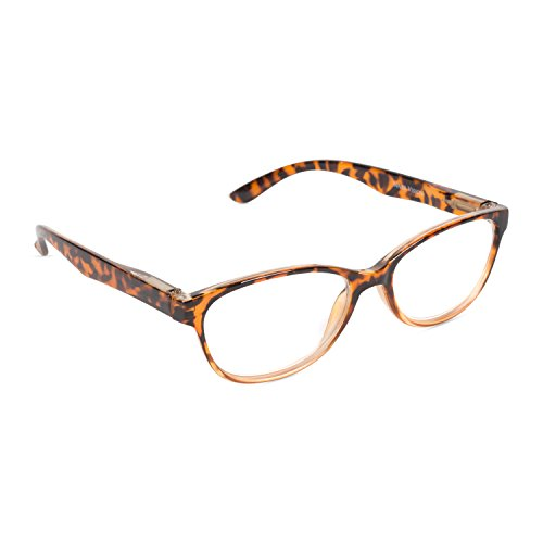 (Inner Vision Women's Reading Glasses w/Spring Hinges & Case - (2.5 x Magnification) - Brown Tortoise)