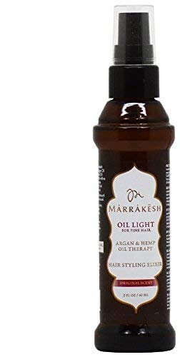 Marrakesh Hair Styling Elixir Oil for Fine Hair, Light, 2 Ounce -
