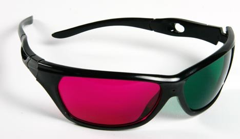 3D Glasses for 3D Movies - (1 PAIR) [Green & Magenta] - Acrylic - With 3d Movie Glasses