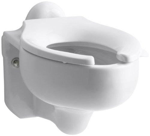 Wall Hung Bowl - KOHLER K-4460-C-0 Sifton Water-Guard Wall-Hung Toilet Bowl, White