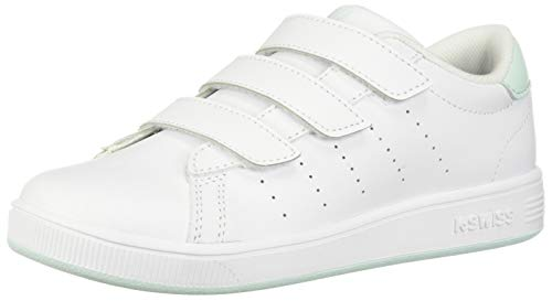 K-Swiss Baby Clean Court 3-Strap Sneaker White/Soothing sea 7 M US Toddler