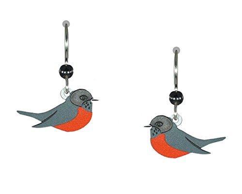 Sienna Sky American Robin Redbreast Bird Earrings 1124