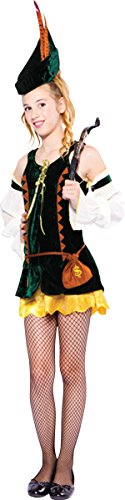 Maid Marion Fancy Dress Party Robin Hood Outfit Forest Hunter Girl Costume