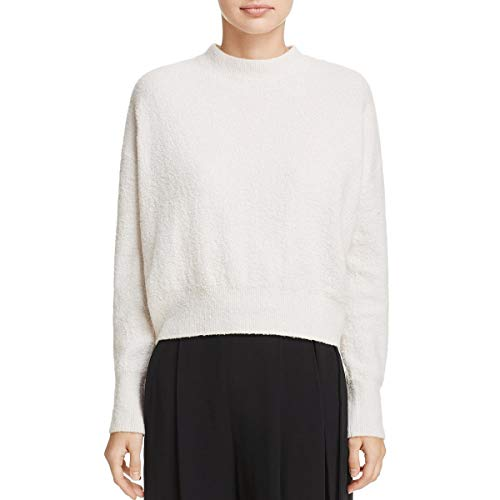 Vince Women's Boucle Pullover Sweater, Off White, XS