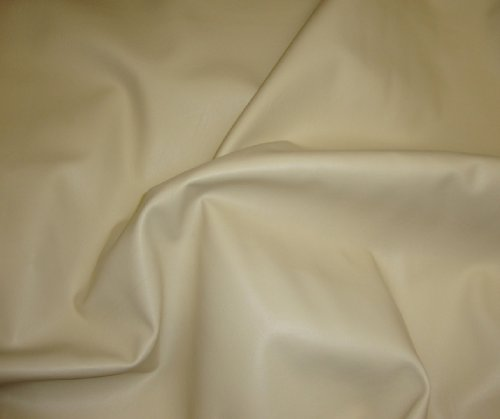 Ivory 2 Way Stretch Upholstery Faux Leather Vinyl Fabric Per Yard - Ivory Vinyl