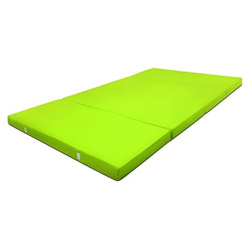 Beautissu Cómodo colchón Plegable Campix Auxiliar futón 120 x 195 x 7 cm Ahorra Espacio Tela Microfibra Verde: Amazon.es: Hogar