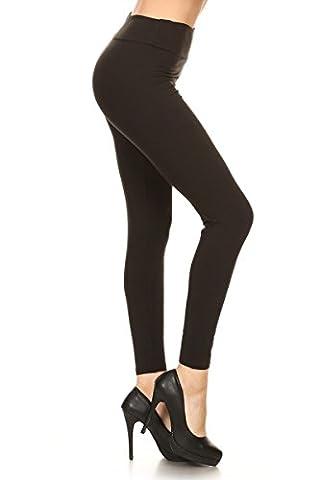 Leggings Depot YOGA Waist REG/PLUS Women's Buttery Soft Solid Leggings 16+Colors (Regular (Size 0-12), Black)