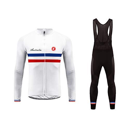 Uglyfrog #02 Bike Wear National Flag Designs Winter Warm Fleece Cycle Clothing Cycling Jersey Suits Men