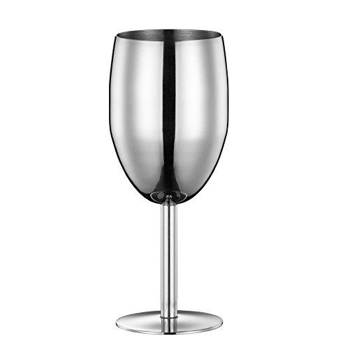 Stainless Steel Unbreakable Wine Glasses - Set of 2 Omysi 12oz/350ml Wine Goblet