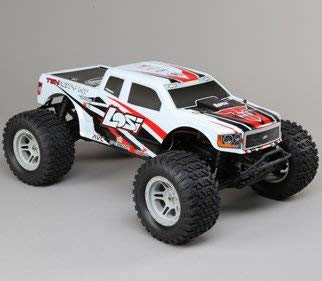 (Losi 1/10 Tenacity 4WD RC Monster Truck Brushless RTR with AVC, White)