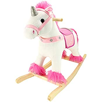 Amazon Com Melissa Doug Plush Rocking Horse Wooden Base