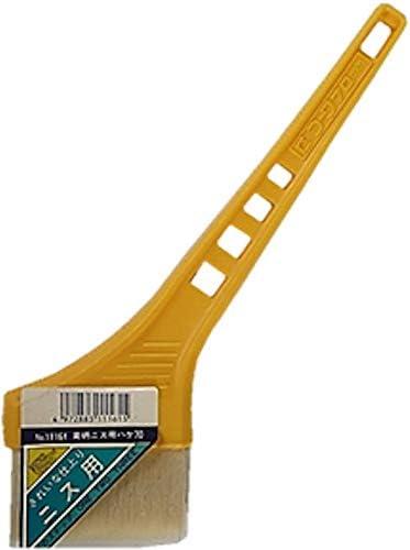 黄柄ニス用ハケ70mm巾 3本セット(作業手袋付き)通常便