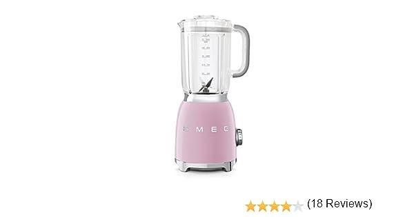 SMEG Batidora BLF01PKEU, 800 W, Vidrio, 4 Velocidades, rosa pastel ...