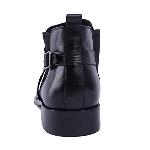 Pelle Primo in Stivaletti Uomo in Classic Sicurezza Uomo Bovina Formale da Stivali Pelle Chelsea Brogue A Black Pelle Punta Strato Boots atqxw7nC8