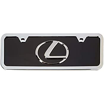Lexus Logo Front Half-size Chrome Steel License Plate