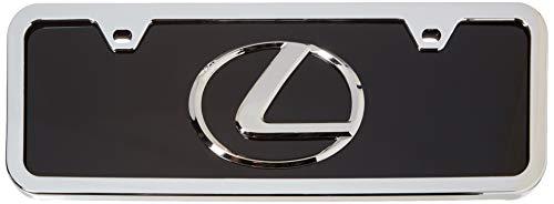 LEXUS 3D Logo Black Acrylic Half-Size License Plate with Chrome Frame Kit ()