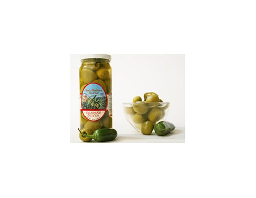 Santa Barbara Jalapeno Stuffed Olives, 5-Ounce Jars (Pack of 6) by Santa Barbara Olive Co.