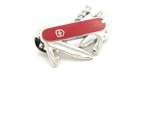 Victorinox Swiss Army Knife Collector TIE TACK Lapel Hat Pin Hunting Camping Fishing