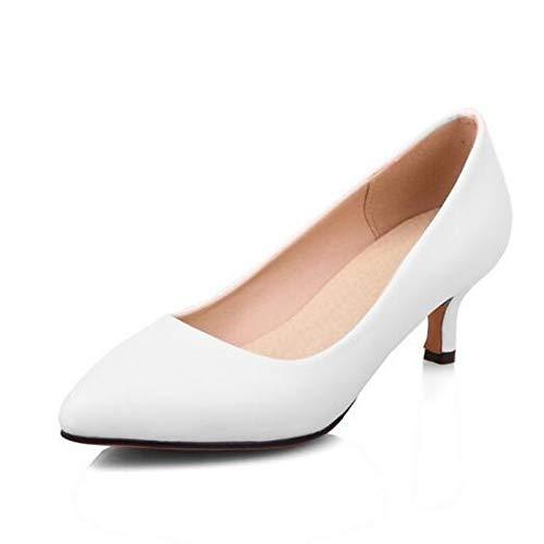 Shoes Polyurethane Spring Black Heels ZHZNVX Black Women's Red White Heel PU Stiletto Comfort FZqn5wA