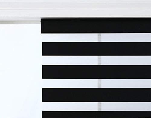 Black Cordless Zebra Shade