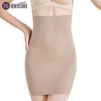 e8941140f42 Meisou New Super Elastic Control Slips High Waist Shaper Women Slimming  Underwear Body Shaper Tummy Control Half Slip Color Beige Size M   Amazon.in  Beauty