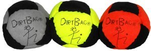 DirtBag Classic Footbag 3 pack Orange/Black Combo by DirtBag