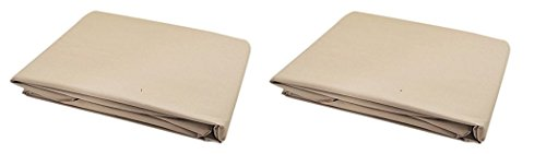 Garden Winds Replacement Canopy Top for Lowe's Garden Treasures SC-GSN and SC8844GSN Three Person Swing (Beige Color) (Pack of 2)
