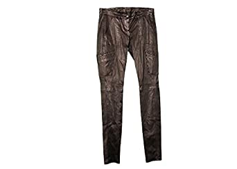 J Crew Collection Leather Motorcycle Pant Size 4 Style New Black ...