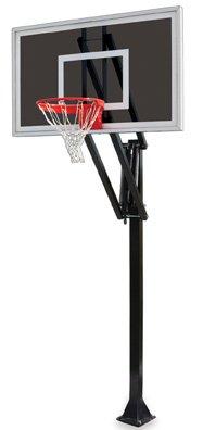 最初チームベクトルeclipse-bp steel-smokedガラスin ground調整可能バスケットボールsystem44、オレンジ B01HC0CYHC
