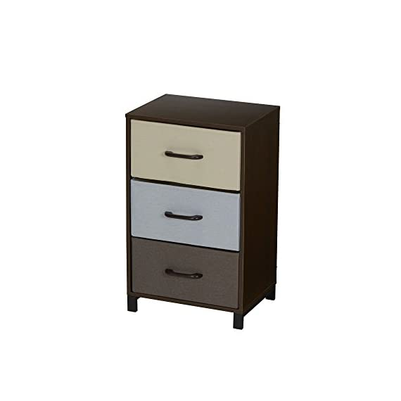 Household Essentials 8013-1 Wooden 3 Drawer Dresser | Storage Night Stand | Mahoganey - STORAGE CHEST with three functional fabric drawers in 3 colors perfect as an end table or nightstand RAISED STEEL FEET for extra stability and 3 pull out fabric storage drawers for lightweight storage WIRE FRAME CONSTRUCTION provides tracks and back brace for the drawer system creating stability and functionality - dressers-bedroom-furniture, bedroom-furniture, bedroom - 31IsX9cyLxL. SS570  -