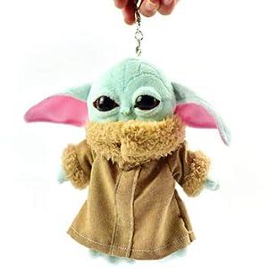 BD 15cm Keychain Baby yoda Plush Toys Child Baby Yoda The Mandalorian